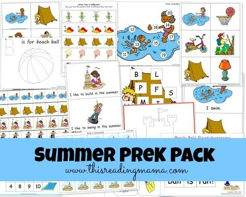 Free Summer Pre K K Pack Updated Expanded: 31 Best Images About Preschool Theme: Summer On Pinterest