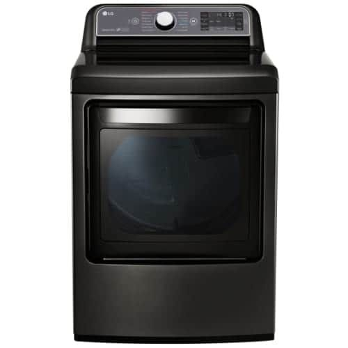 LG DLEX7600 27 Inch Wide 7.3 Cu. Ft. Energy Star Rated Electric Dryer with EasyLoad 2-Way Door and TurboSteam Technology (
