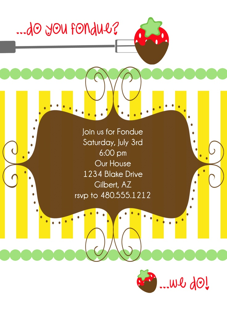 9 best Julia party images – Fondue Party Invitations