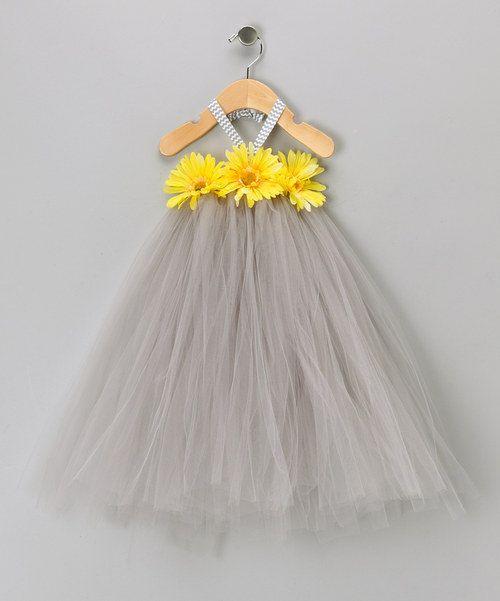 Grey and Yellow Tutu Dress. $30.00, via Etsy.