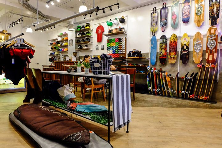 Retail Design Blog  EASY Skate - Surf Concept Store, Pasig City - Philippines  minimalistic look, industrial finishes, white paint finishes