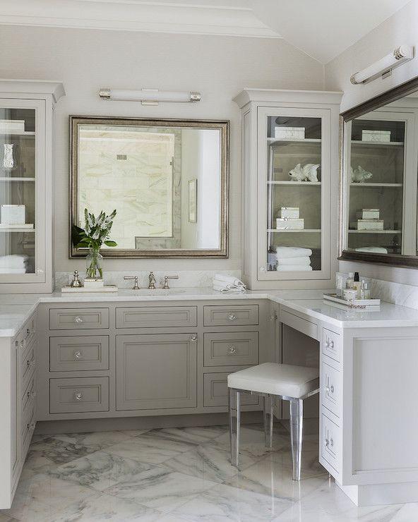 Bathroom Bliss. u shaped vanity - interesting