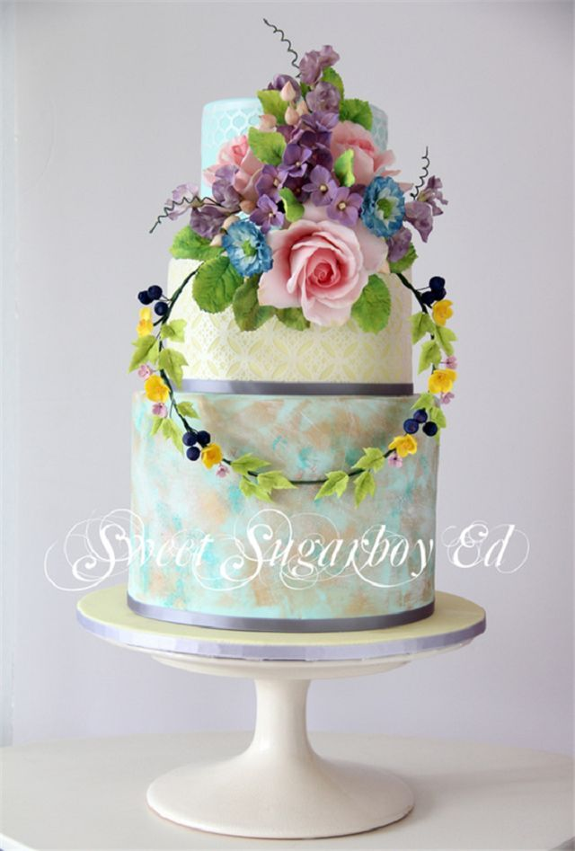 Spring Pastel Wedding Cakes From Sweet Sugarboy Ed