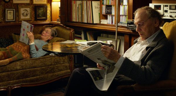 "Love the home of Jean-Louis Trintignant and Emmanuelle Riva  in ""Amour' - reflecting the long life shared together by these two intellectuals."