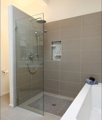 Straight Stacked Tile For Master Shower