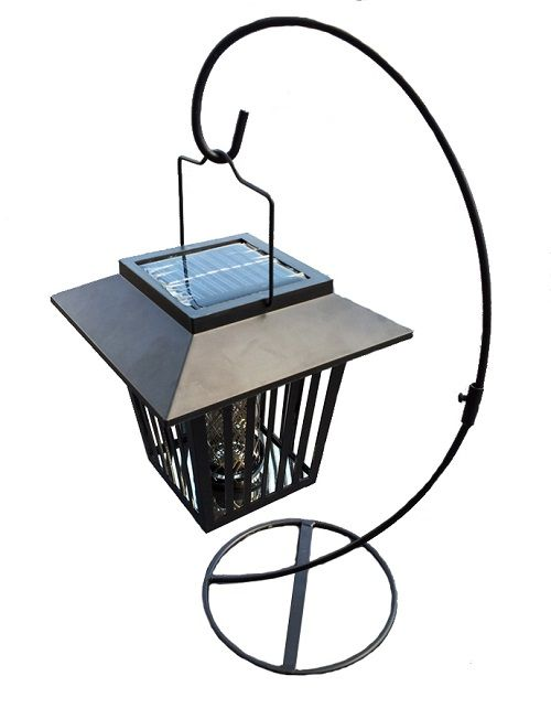 our solar yard lights solar zapper lantern with table stand