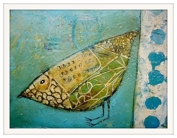 "ELKE TRITTEL: ""My Mini 22"" (15x15cm) acrylic paint, pencils, stencils, oil pastels, inks, markers, gesso, & collage elements."