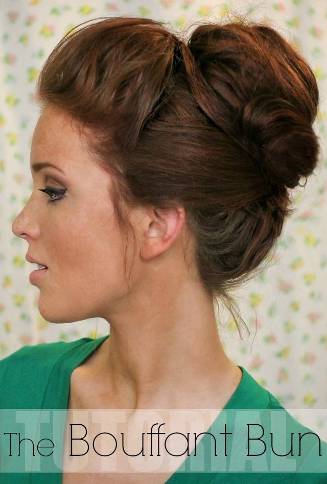 The Freckled Fox: Hair Tutorial: The Bouffant Bun