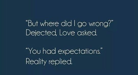 Expectations->hurt