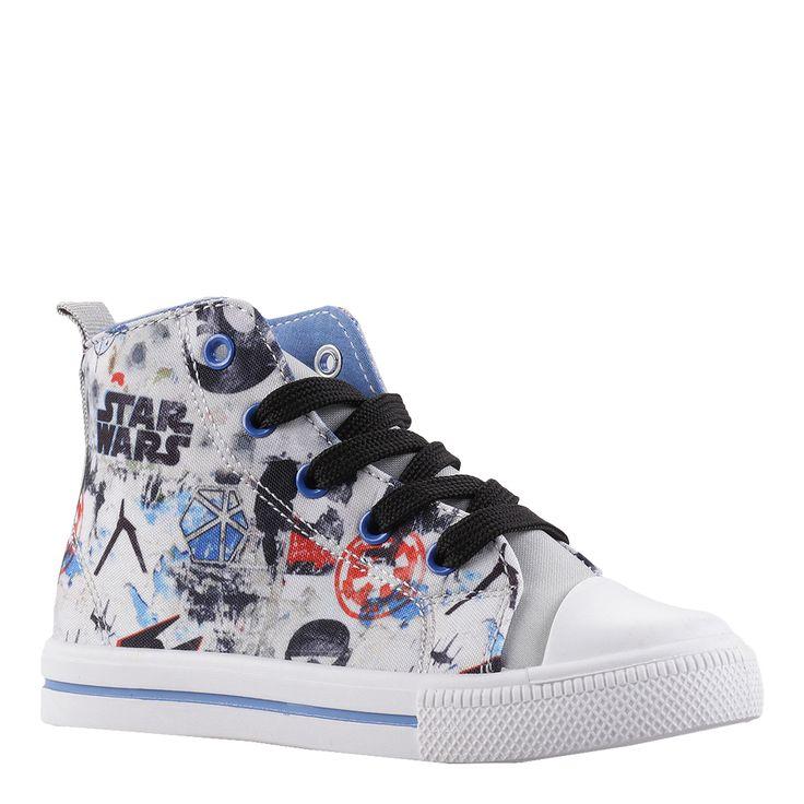 Tenisi copii Star Wars Rogue One albi cu albastru