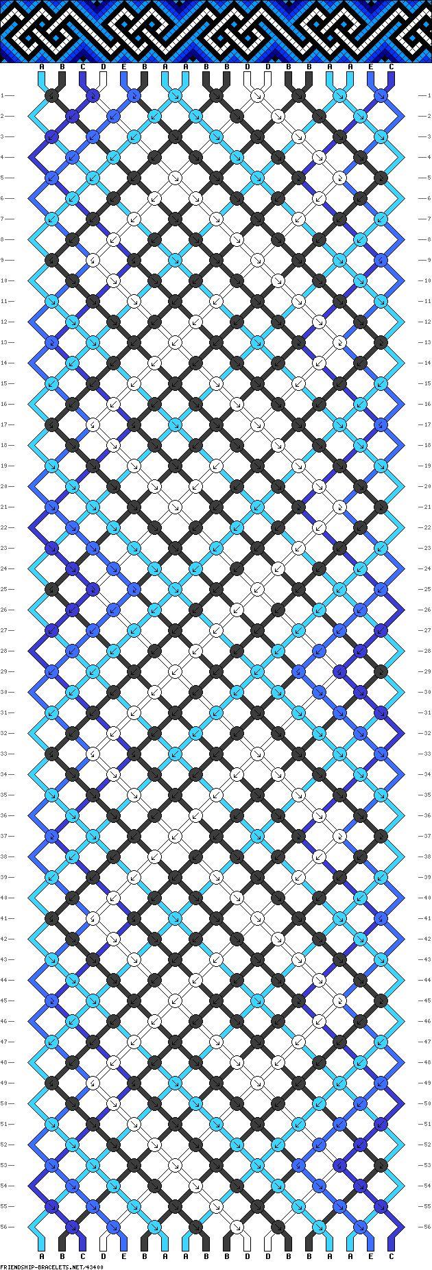 Pattern #43400 - celtic, heart-like shapes (18 strings, 56 rows)