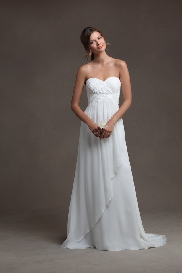 Flowy wedding dresses beach images for Flowy wedding dress with sleeves