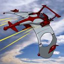 ZATの小型高速戦闘機です^^ ロケットモーターを装備し 単体で大気圏を突破可能で 宇宙でも活動できる。 機体下部にミサイルを装備するが 今回はそれっぽいところに 機銃もつけてみた^^