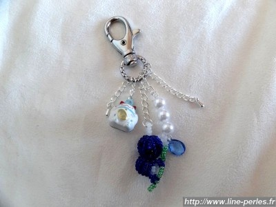 *** Bijou de sac ~ Koala ~ Bleu et blanc *** 100% fait main *** http://www.line-perles.fr/catalog/product_info.php?cPath=89_124_id=661