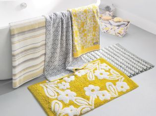 Say hello to this season's most GORGEOUS colour palette! Brighten up your bathroom with a touch of yellow.