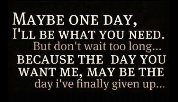 I will give up on you. Time to move on.