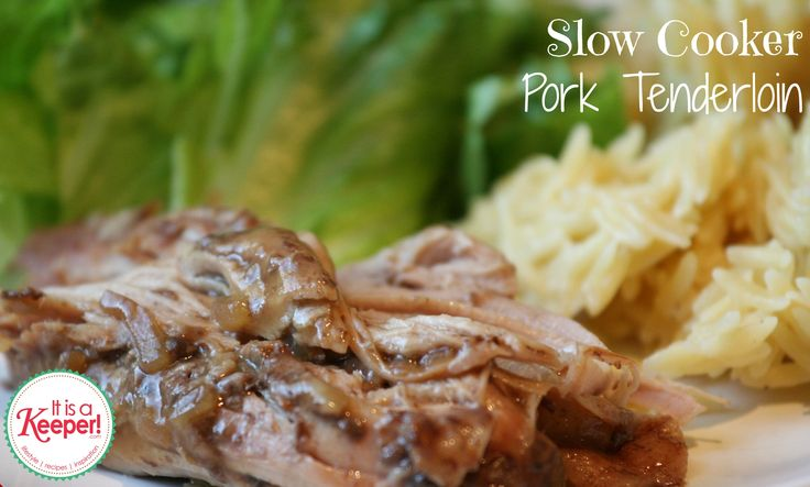 This slow cooker pork tenderloin is one of my favorite slow cooker recipes! It's hearty with a decadent sauce that is perfect for the crockpot.