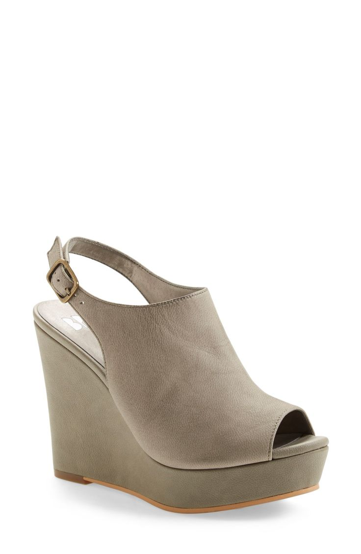 BP. Slingback Peep Toe Wedge (Women)
