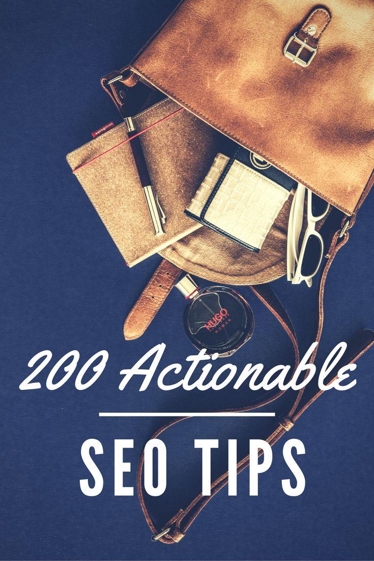 200 Actionable #SEO Tips.