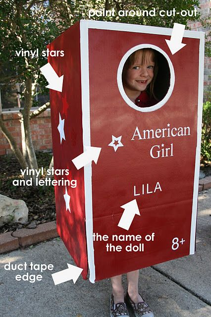 American Girl doll. Wonder if i should put myself in a box like this for my granddaughter. She wants the one with my first name.