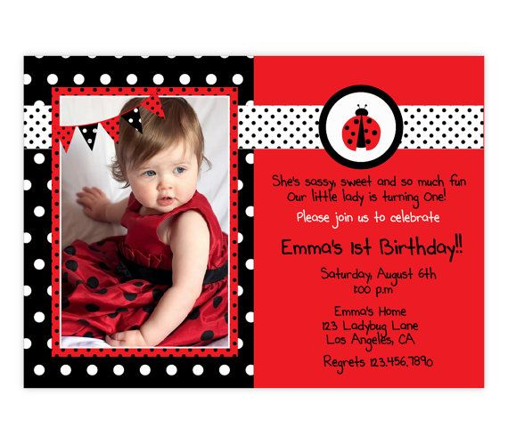 The 25 best Ladybug invitations ideas – Ladybug Invitations 1st Birthday