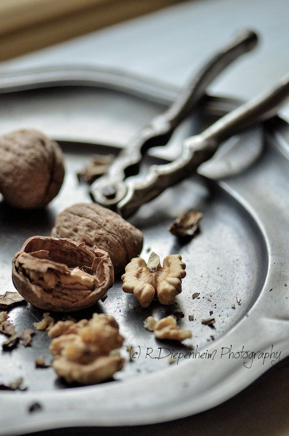 Walnuts on French Pewter  digital download by RDiepenheimFoto, $10.00