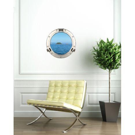 fausse fen tre hublot de bateau faux hublot de bateau en trompe l 39 oeil d coration marine. Black Bedroom Furniture Sets. Home Design Ideas