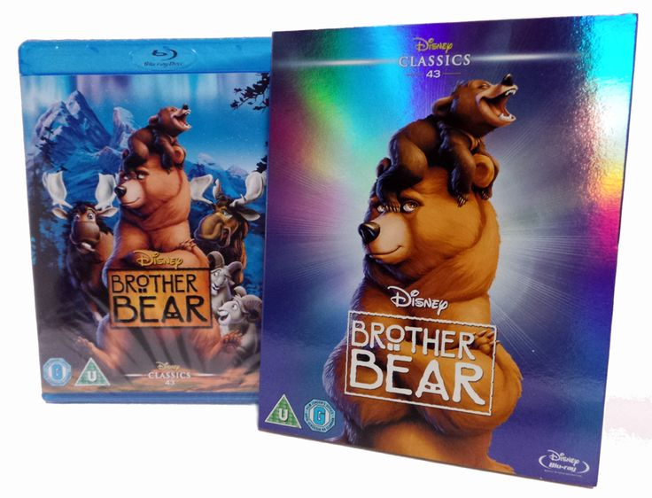 Disney's 43rd Animated Classic Brother Bear O-RING LTD EDITION ARTWORK Blu-Ray