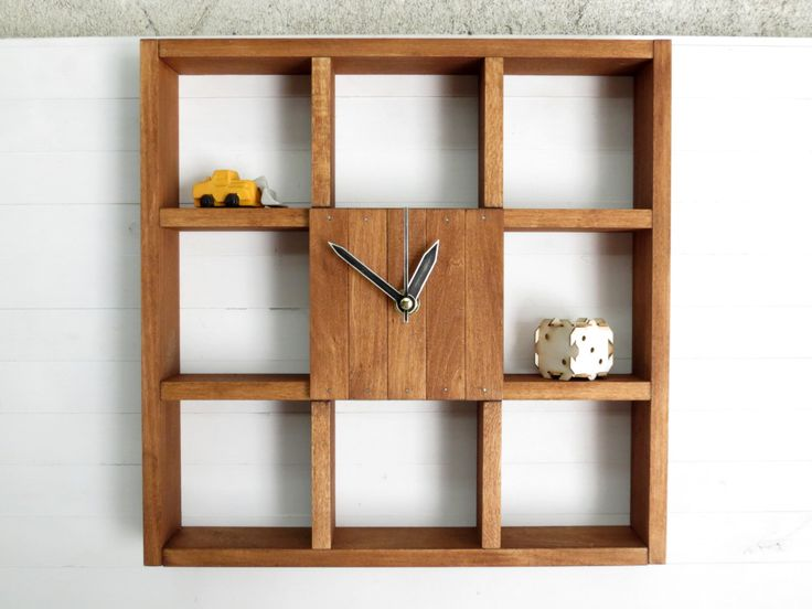 Wooden Wall Clock Box For Office And Home Decor Square