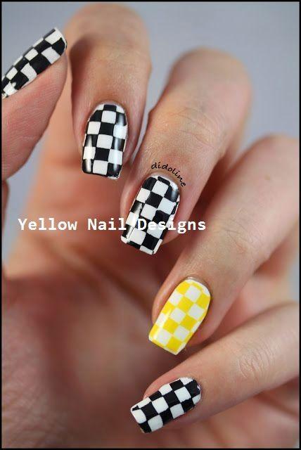 23 grandes diseños de uñas amarillas 2019 #nailart