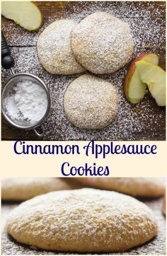 Cinnamon Applesauce Cookies, fast, easy and what a delicious cookie recipe. A moist almost cake like kid friendly cookie snack. Enjoy. via @https://it.pinterest.com/Italianinkitchn/
