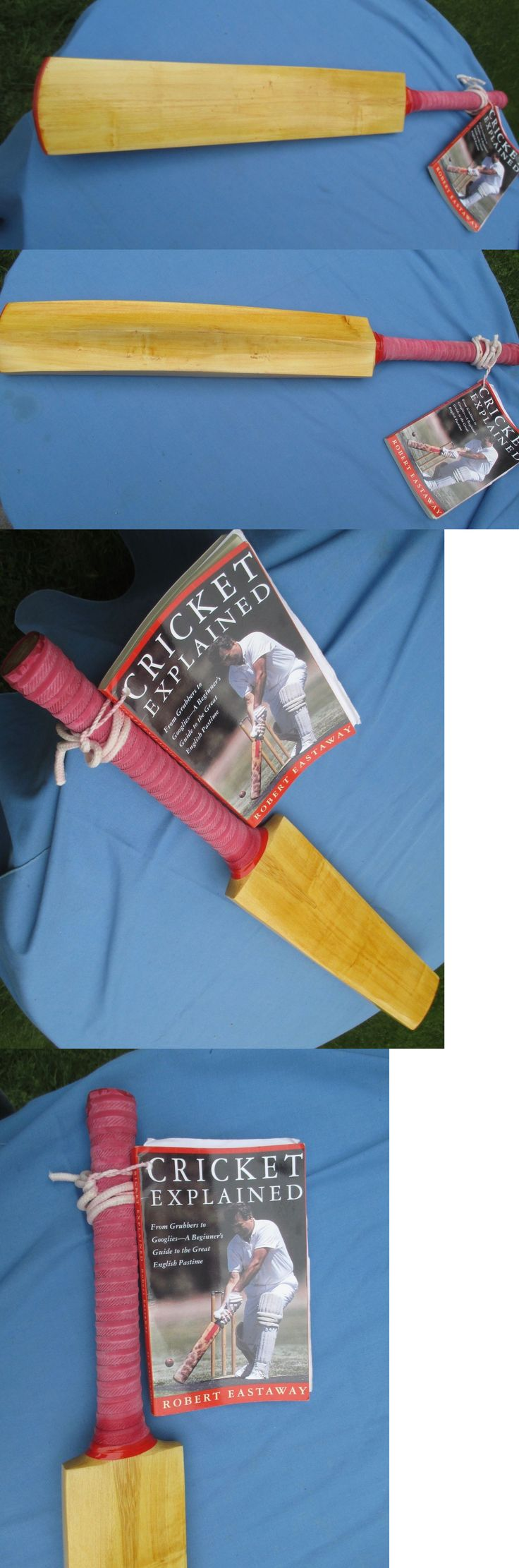 Cricket 2906: Wood Cricket Bat And Cricket Book. Never Used. 34 Long -> BUY IT NOW ONLY: $60 on eBay!