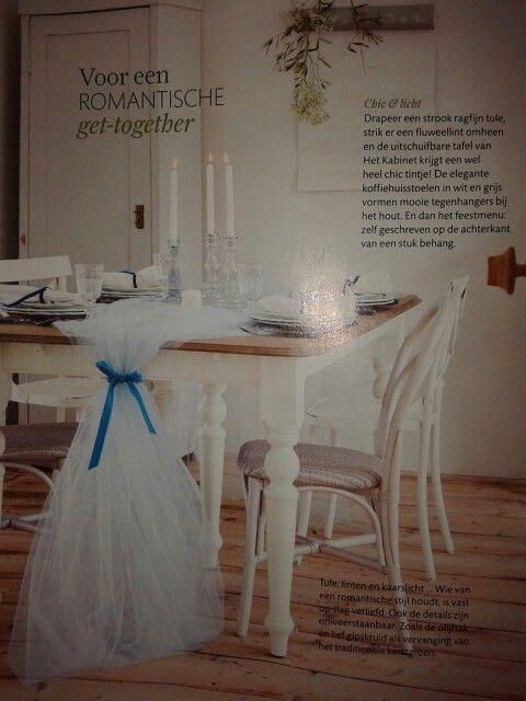 Romantische tafel gedekt