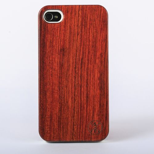 Rosewood Cabot Case - White iPhone 4/4S - Composed of a solid piece of rosewood with a polycarbonate shell, this unique case offers protection from harmful elements and scratches. Plus, 20% of the sale goes to charity and 1 tree is planted per product sold!