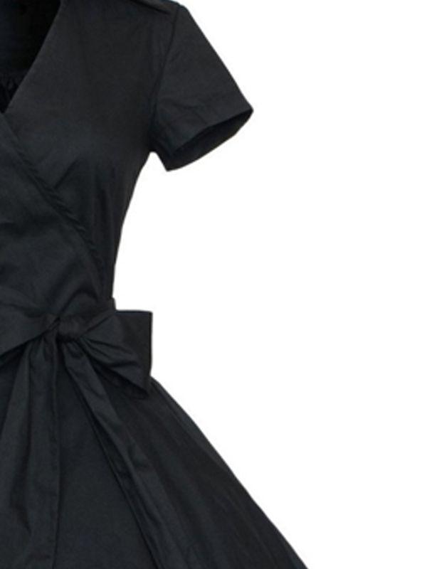 beb58c360c296 Winsellers Women Vintage Fashion Classical Style Summer Dress Polka Dot  Short Sleeve Big Swing Dresses#Classical, #Style, #Summer