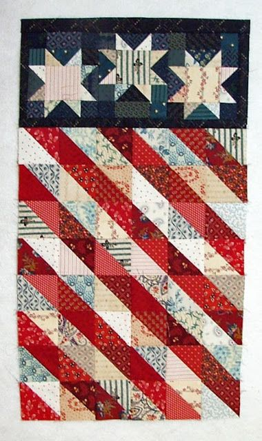 Fourth of July wall hanging at Quilt Crossing: July 2013
