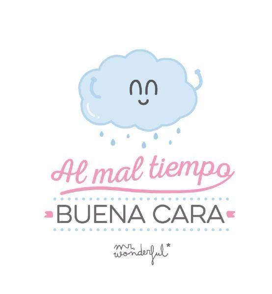 Paraguas Mr. Wonderful - Al mal tiempo buena cara -