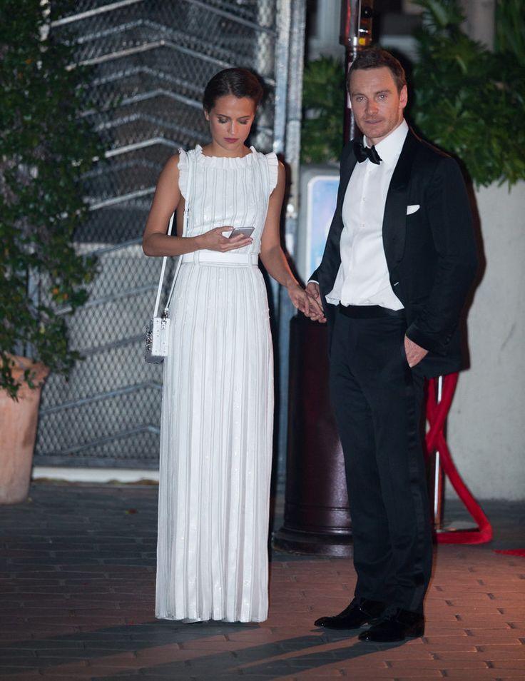 Michael Fassbender and Alicia Vikander at Golden Globes 2016 | POPSUGAR Celebrity UK
