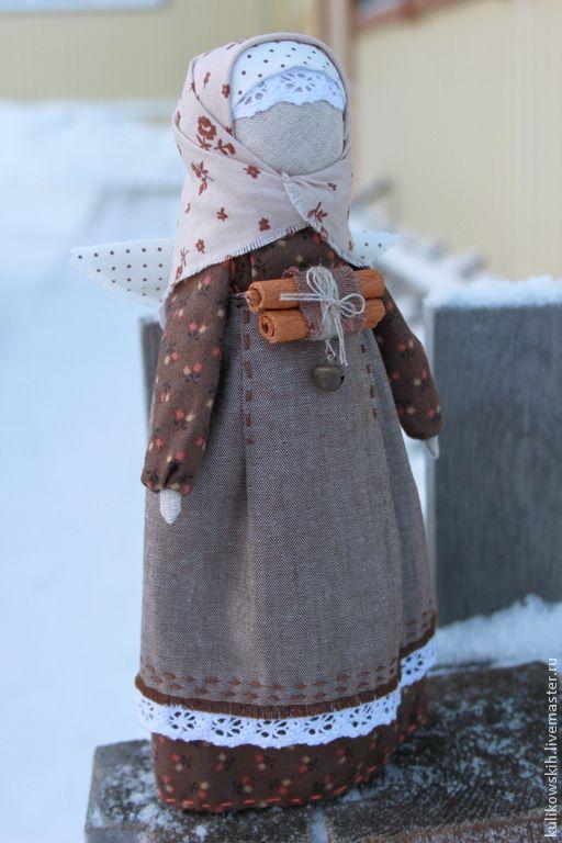 """Кукла Ангел """"Пряная корица"""" - коричневый,корица,ангел,рождество,Новый Год"""