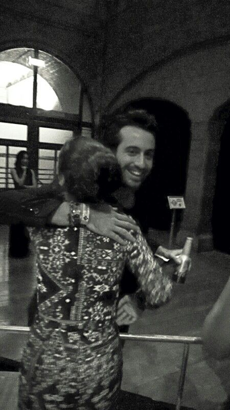 Me with Dotan hugging♡