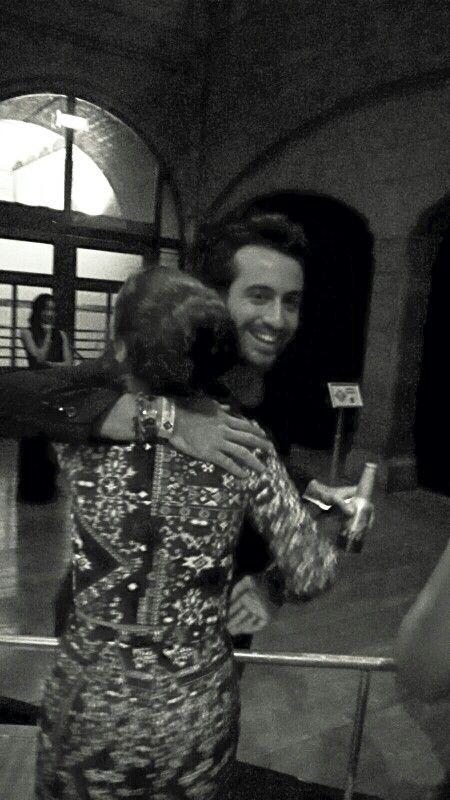 Me with Dotan hugging♡