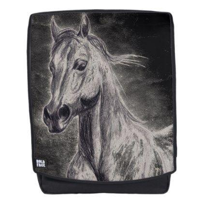 Hackney horse Boldface Backpack - horse animal horses riding freedom