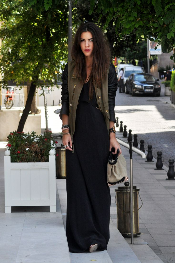 Jaket + Black Maxi Dress * wit + delight