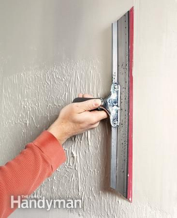 How to skim coat to get rid of textured walls.