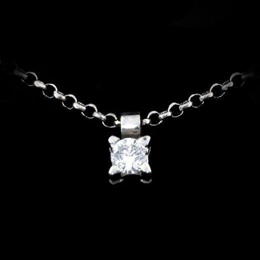 Pendente - LGBGOC91 Girocollo punto luce in oro bianco 18 kt. griffes onda. www.liguorigioielli.it/it/pendente_solitaro_roma_collezione_bridal_liguori_gioielli-gb006-7-fvs-69.htm #liguorigioielli #gioielli #jewels #roma #italy #pendente #solitario #bridal