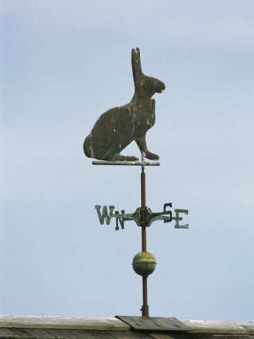 A Rabbit-Shaped Weather Vane