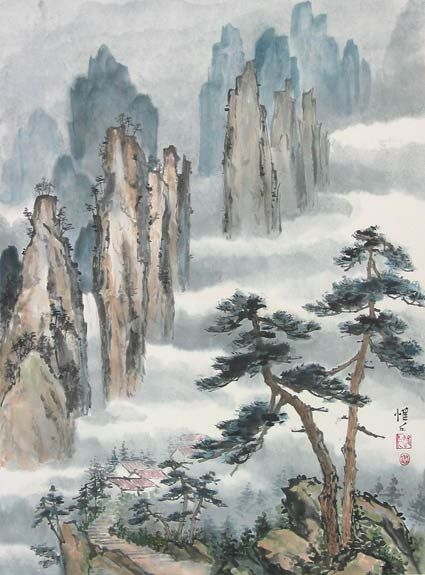 Chinese Landscape Brush Painting 中国画 China Painting