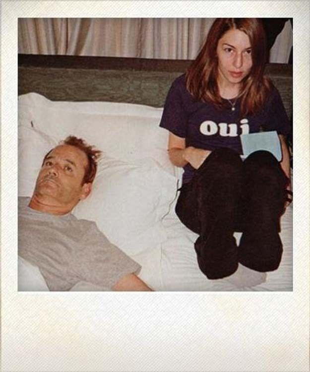 Bill Murray and Sofia Coppola | 26 Fascinating Polaroids Of Celebrities