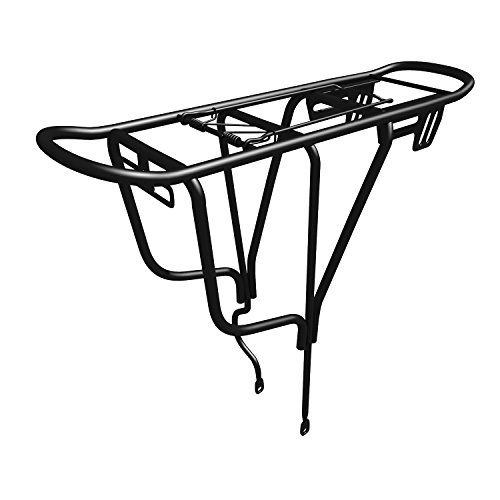 Sportly Iron Cargo Heavy Duty Bike Carrier Rack  Durable yet Lightweight Bicycle Rack Secures Packs Panniers and Trunk Bags Rear Mount Assembly Supports Up to 110 lbs Wont Twist or Warp * Check this awesome product by going to the link at the image.