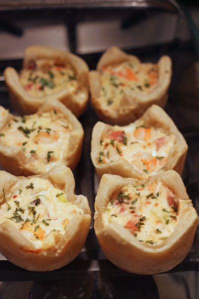 Puff pastry Shrimp Appetizer. delish and easy to make.  ..